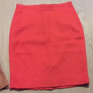 The Limited 2 coral textured pencil skirt